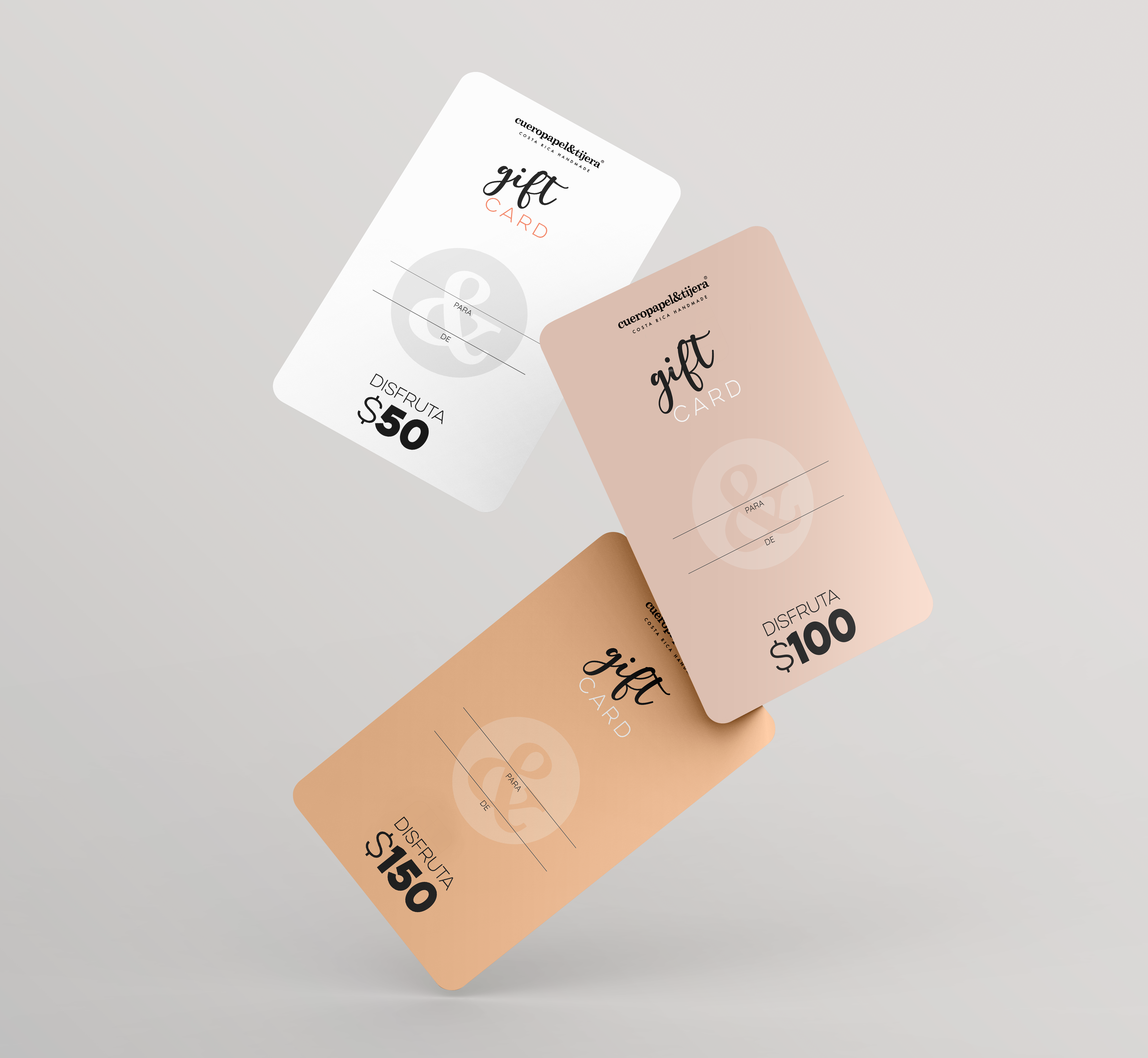 Gift Cards Mockup